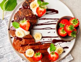Chocolade-banaan pannenkoeken