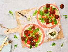 Wraps met hummus en falafel