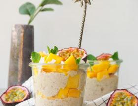 Tropische overnight oats