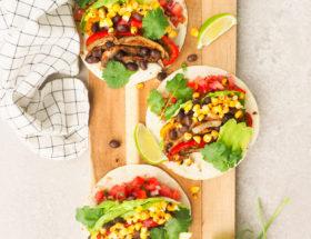 Taco's met portobello