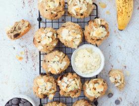 Chocolate chip bananen muffins