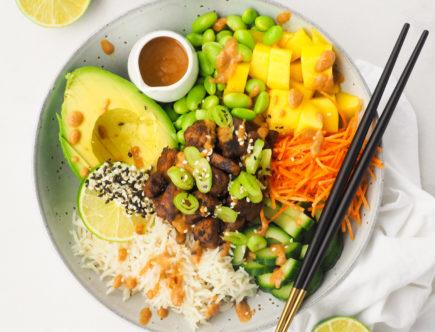 Poke bowl met kokosrijst