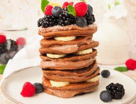 Chocolade protein pannenkoeken