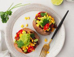 Mexicaans gevulde zoete aardappel