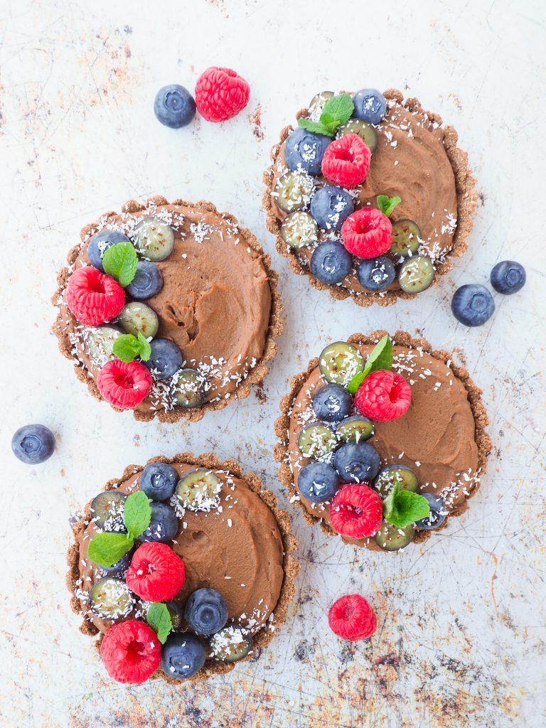 Eiwitrijke chocolademousse taartjes