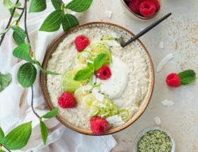 Kokos limoen overnight oats