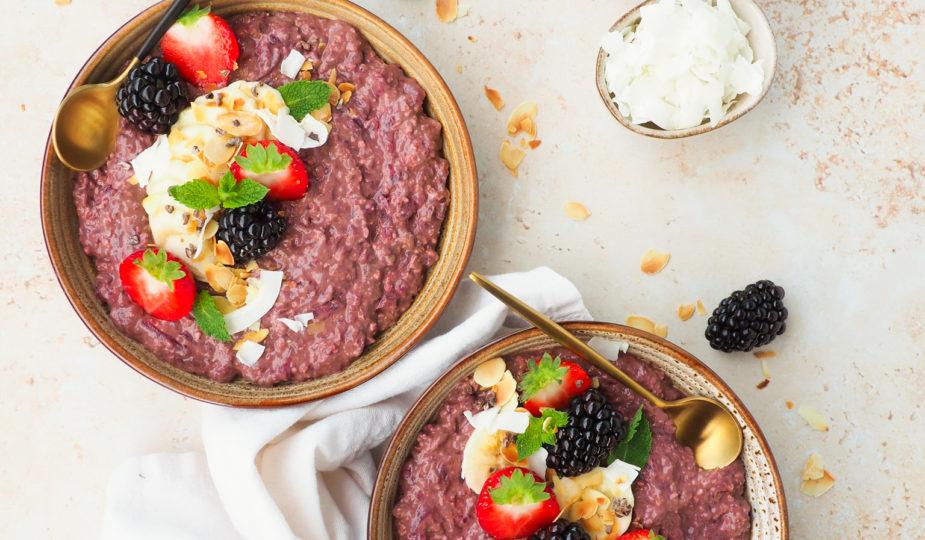 Choco biet overnight oats